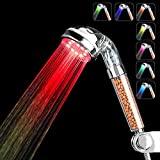 7色LED过滤莲蓬头低至$19.98高水压设置