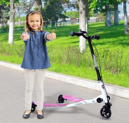 HOMCOM儿童滑板车$59.99!三轮设计高度可调