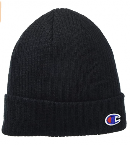 champion-mens-small-logo-knitted-hat-1829-black-all-match-2021-3-25